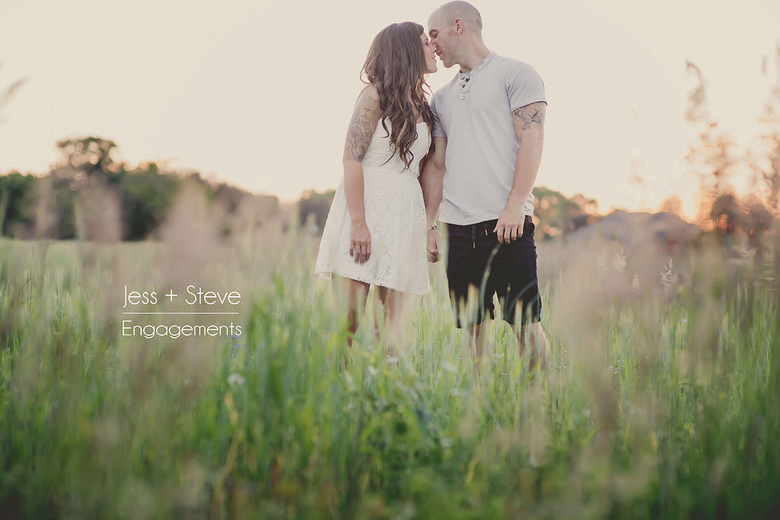 romantic field engagement session in kernersville, nc