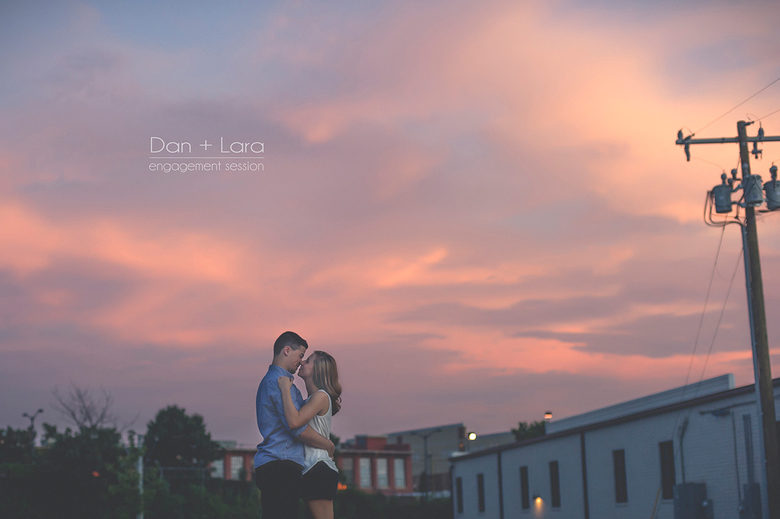 charlotte southend engagement session with sunset