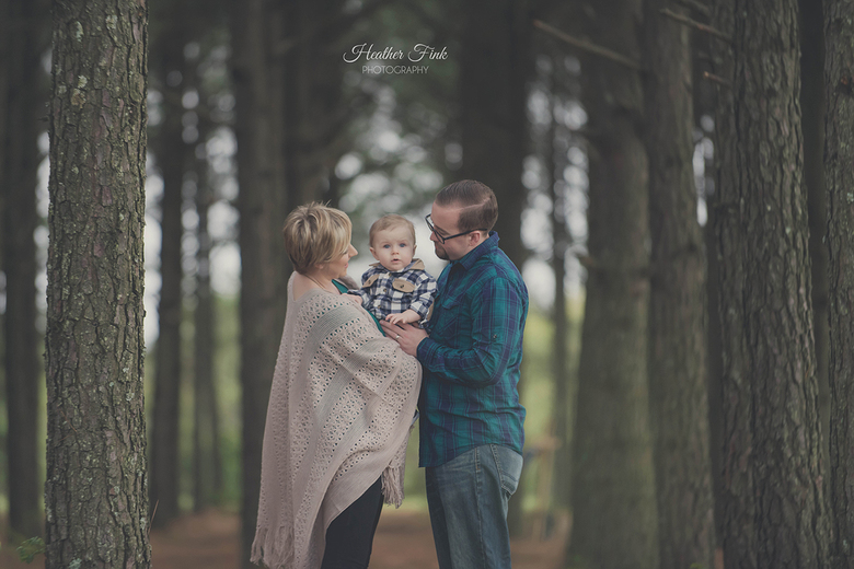 concord nc family in pine trees portrait