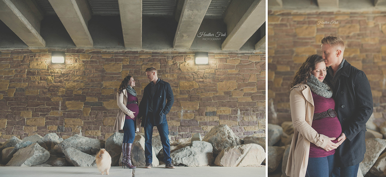 pregnant portraits done under a bridge
