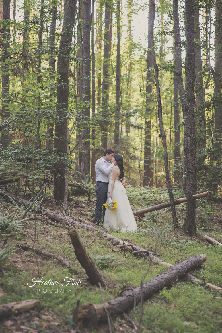 lake norman wedding portraits in the woods